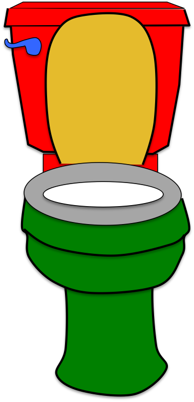 Coloured Toilet